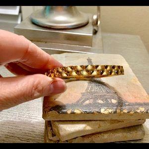 Gold hinged Coach Bracelet